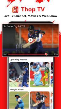 Thop TV : Free Thoptv Live IPL Cricket Guide 2021 स्क्रीनशॉट 7
