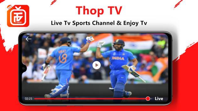 Thop TV : Free Thoptv Live IPL Cricket Guide 2021 स्क्रीनशॉट 2