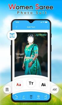 Women Saree Photo Suit screenshot 2