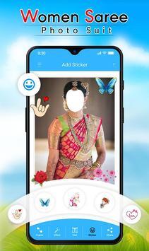 Women Saree Photo Suit screenshot 3