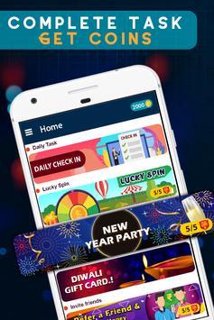 New year reward : free gift voucher poster