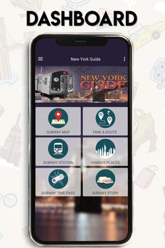 New York Guide- map of New York City Subway - MTA poster