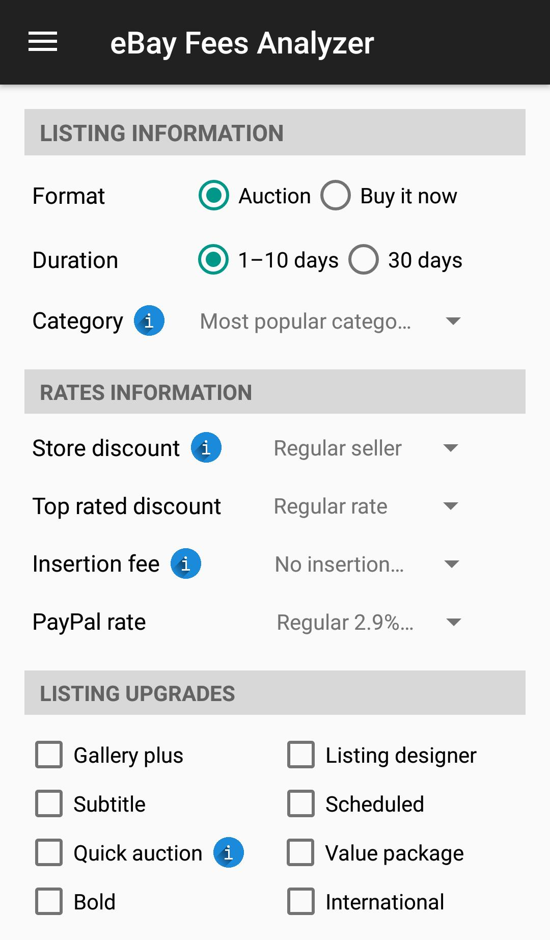 Fees Analyzer For Ebay Sellers For Android Apk Download