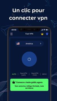 FastVPN-VPN ultra-rapide et sécurisé pour Android Affiche