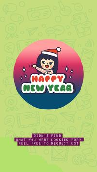 Firework New Year Sticker for WhatsApp Messenger poster