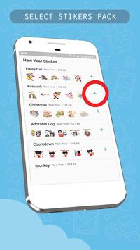 Firework New Year Sticker for WhatsApp Messenger screenshot 1