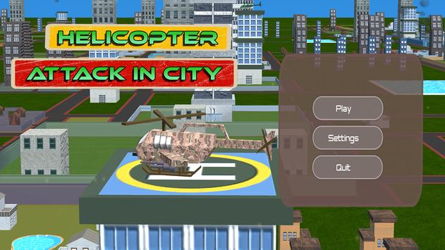 HELICOPTER ATTACK IN CITY poster