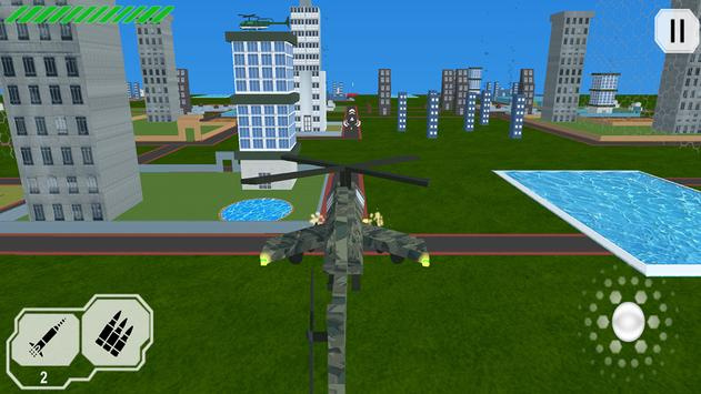 HELICOPTER ATTACK IN CITY screenshot 2