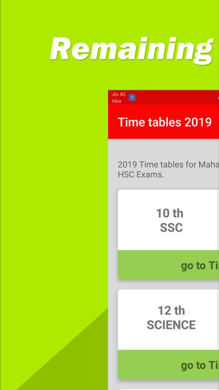 Ssc Hsc Time Table 2019 For Android Apk Download