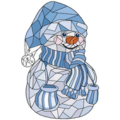 Christmas Poly Art: Color by Number, Coloring Book icon