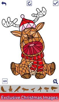 Christmas Poly Art: Color by Number, Coloring Book screenshot 2