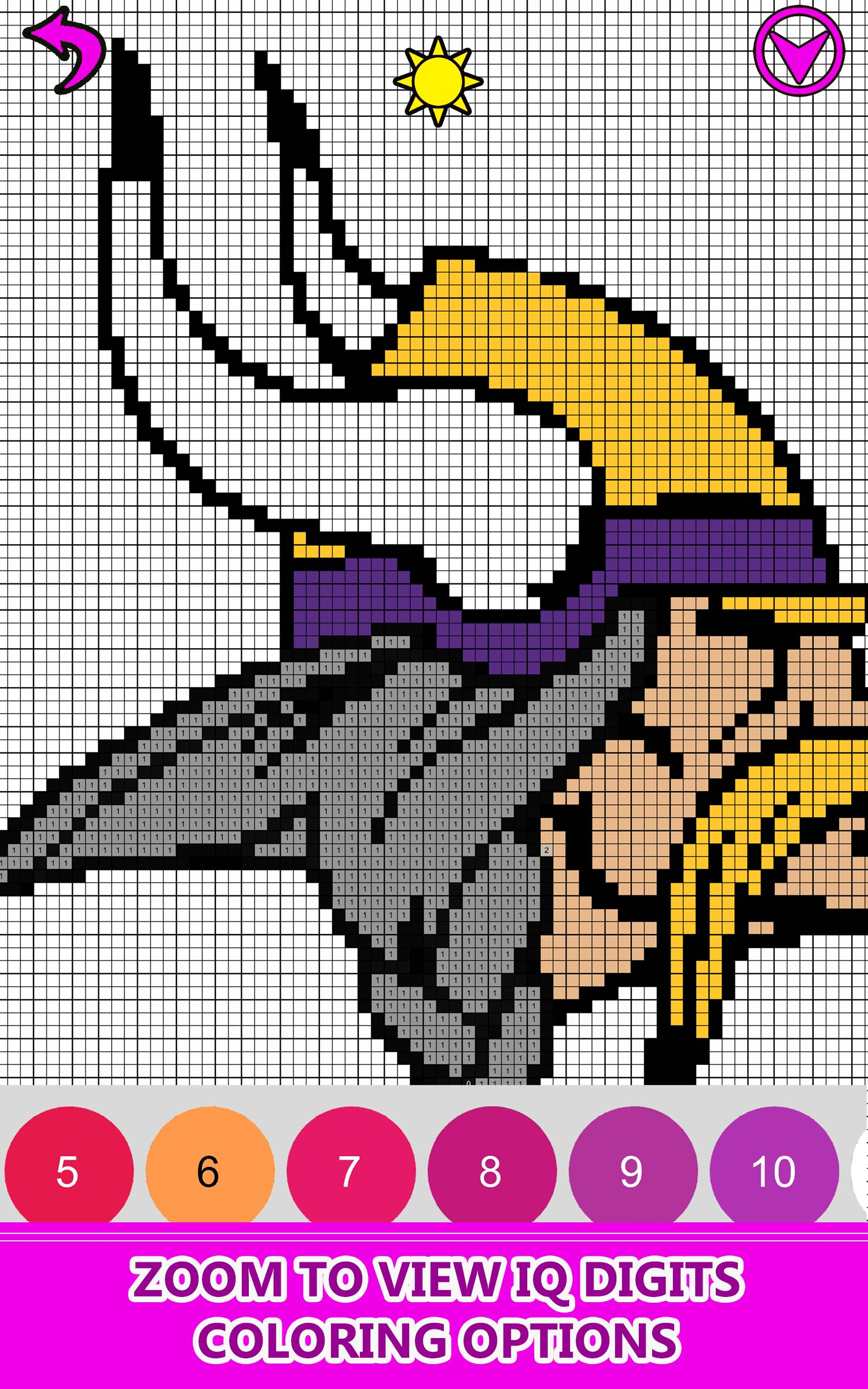 American Football Logo Pixel Art Color By Number For