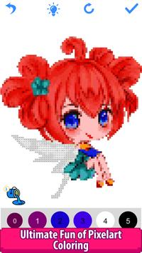 6 Schermata Anime Manga Color by Number - Pixel Art Coloring