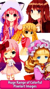 1 Schermata Anime Manga Color by Number - Pixel Art Coloring