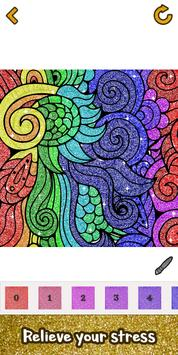 6 Schermata Glitter Color: Adult Coloring Book By Number Pages