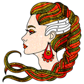 Beauty Glitter Color by Number-Girls Coloring Book icon