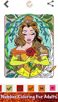 Beauty Glitter Color by Number-Girls Coloring Book screenshot 1