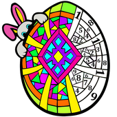 Easter Eggs Color by Number - Adult Coloring Book icon