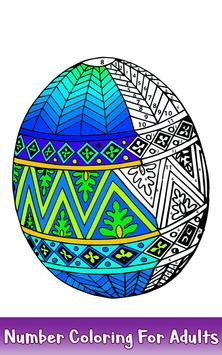 Easter Eggs Color by Number - Adult Coloring Book screenshot 3