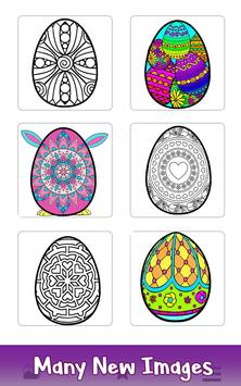 Easter Eggs Color by Number - Adult Coloring Book poster