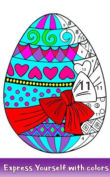 Easter Eggs Color by Number - Adult Coloring Book screenshot 2