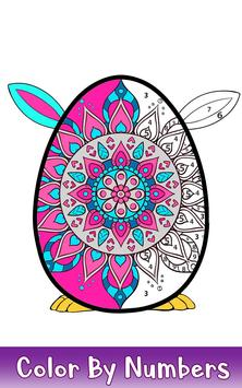 Easter Eggs Color by Number - Adult Coloring Book screenshot 4