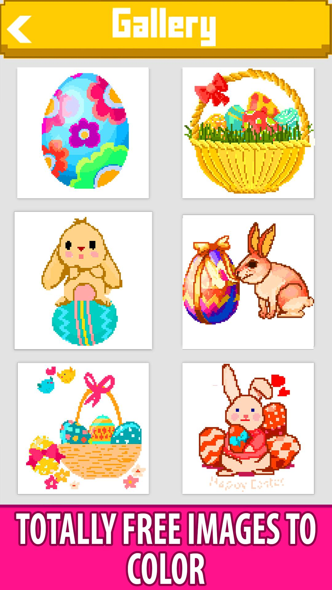 Easter Eggs Color by Number - Pixel Art Paint Book for ...