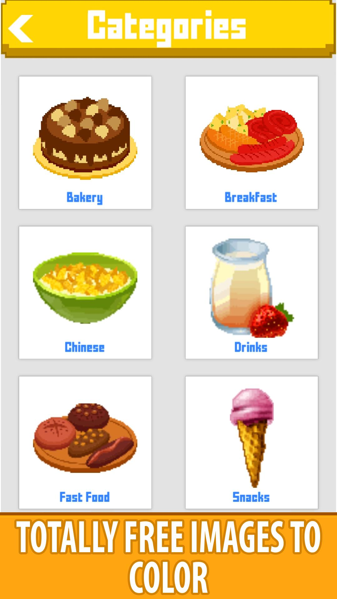 Food Color By Number Book Pixel Art Draw Painting Pour Android Telechargez L Apk