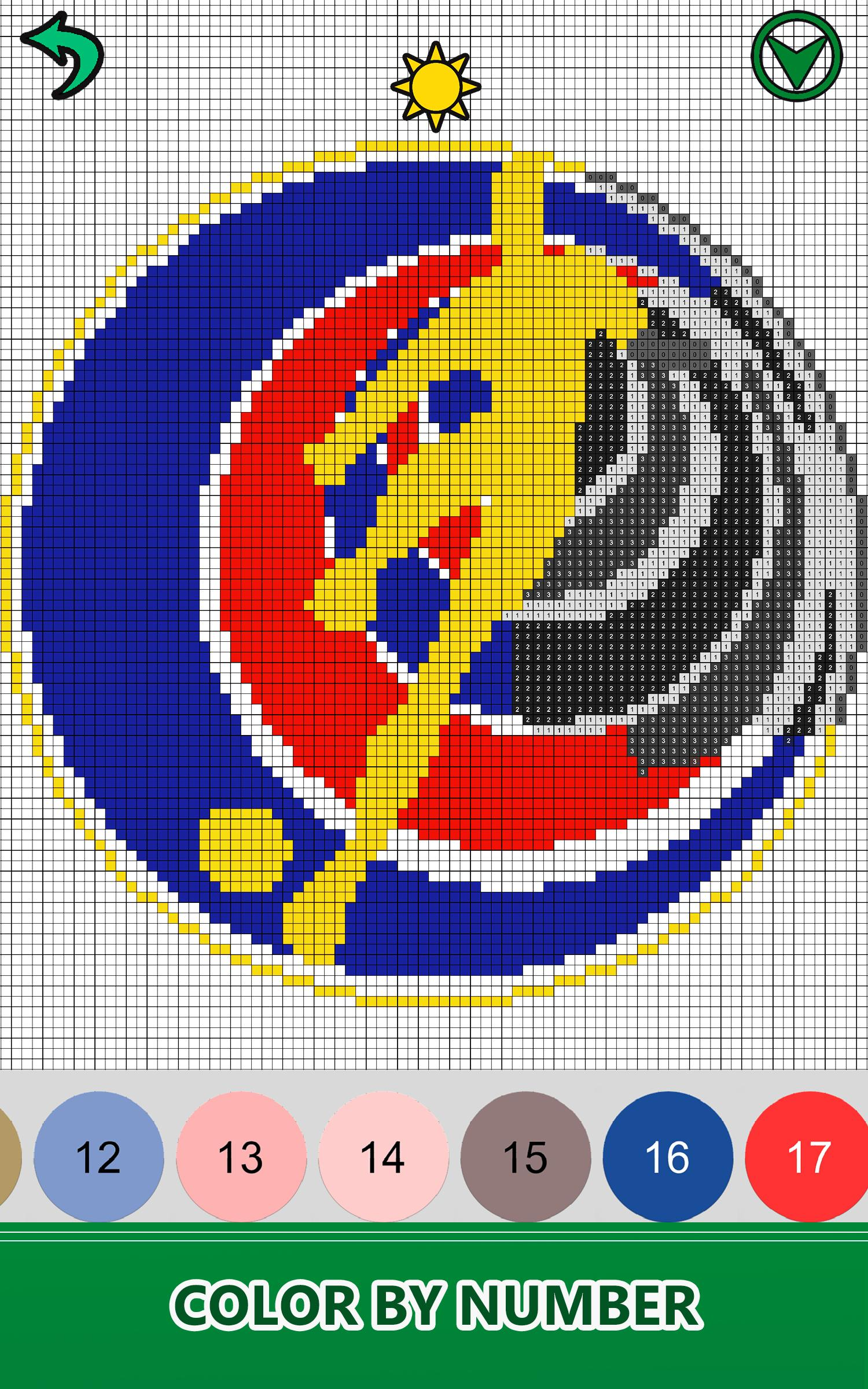 Football Logo Color By Number Pixel Art Nocolor For
