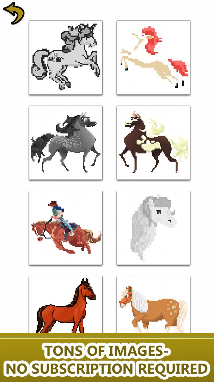 Horse Color by Number-Pixel Art Draw Coloring Book für ...