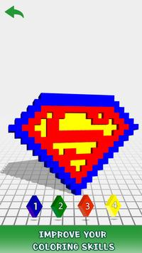 Logo 3D Color by Number: Voxel Coloring Book Pages screenshot 2