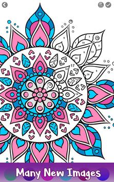 5 Schermata Adult Color by Number Book - Paint Mandala Pages