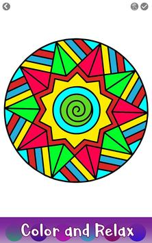 6 Schermata Adult Color by Number Book - Paint Mandala Pages