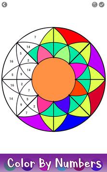 7 Schermata Adult Color by Number Book - Paint Mandala Pages