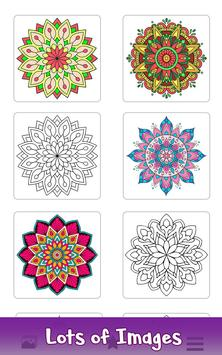 2 Schermata Adult Color by Number Book - Paint Mandala Pages