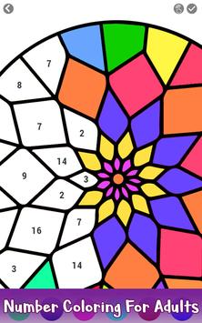 3 Schermata Adult Color by Number Book - Paint Mandala Pages