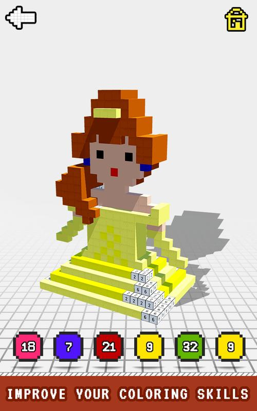 Princess 3D Color by Number: Voxel Coloring Book for Android - APK ...