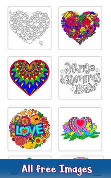 Valentine Color by Number - Paint by Numbers Pages poster