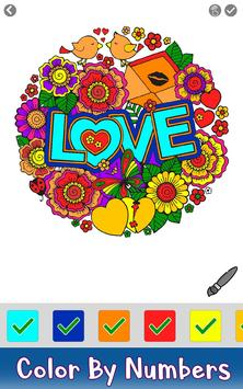 Valentine Color by Number - Paint by Numbers Pages screenshot 1
