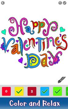 Valentine Color by Number - Paint by Numbers Pages screenshot 4