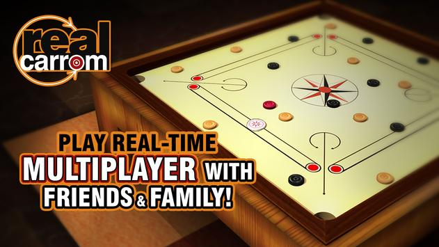 Real Carrom - 3D Multiplayer Game poster