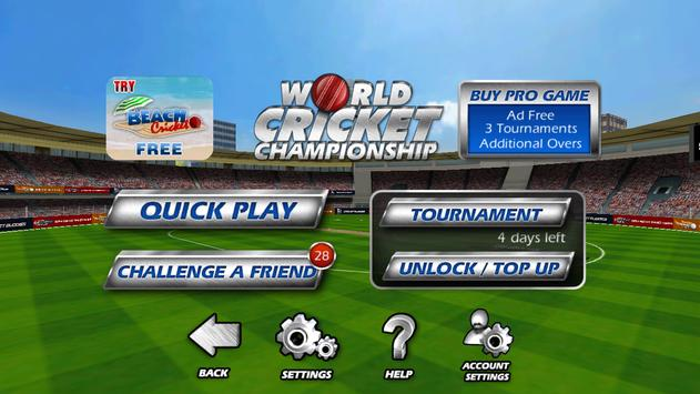 World Cricket Championship  Lt screenshot 1