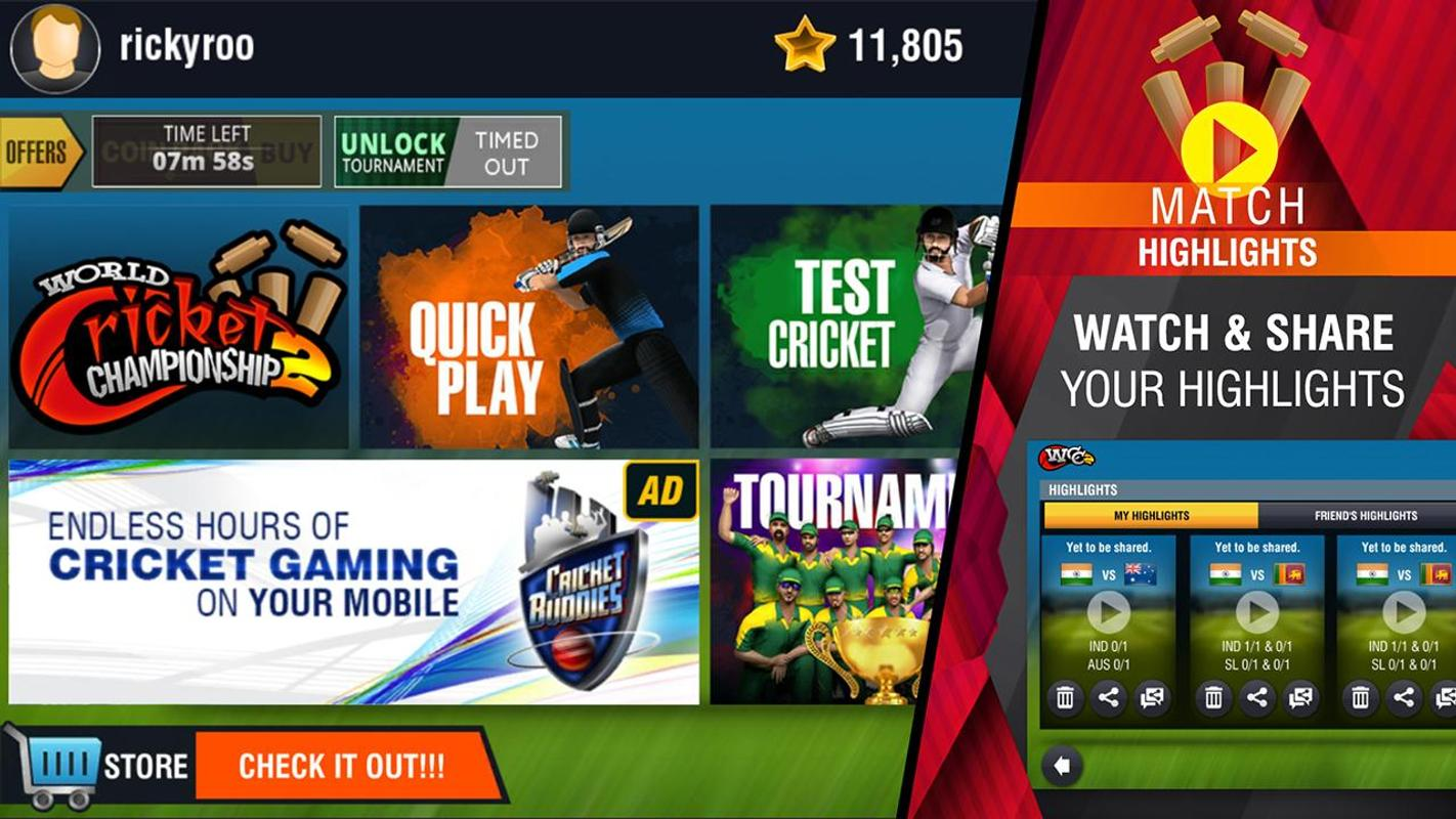 World Cricket Championship 2 Apk Download Free Sports Game For