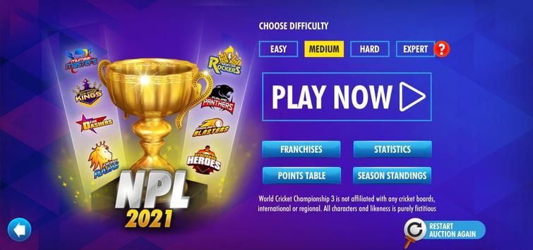 World Cricket Championship 3 स्क्रीनशॉट 1