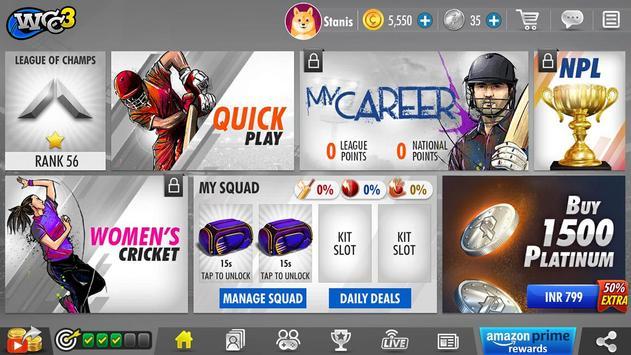 World Cricket Championship 3 स्क्रीनशॉट 4