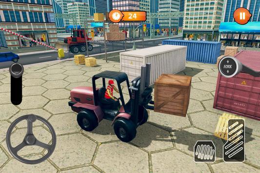 US Forklift Simulator: Cargo Truck Transport Game screenshot 4