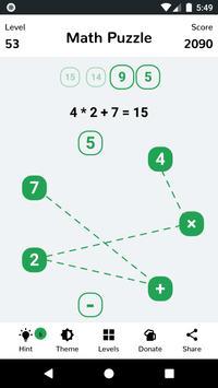 Math Puzzle Affiche