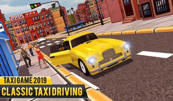 NY Taxi Driving 2019 : Yellow Cab Parking Mania screenshot 2