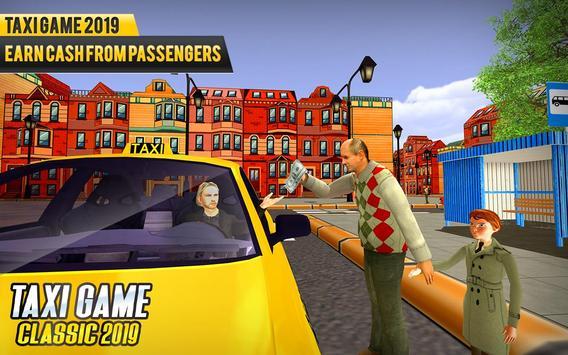 NY Taxi Driving 2019 : Yellow Cab Parking Mania screenshot 14