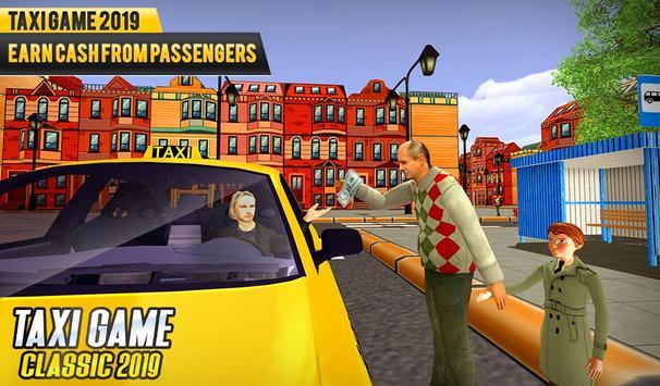 NY Taxi Driving 2019 : Yellow Cab Parking Mania screenshot 4